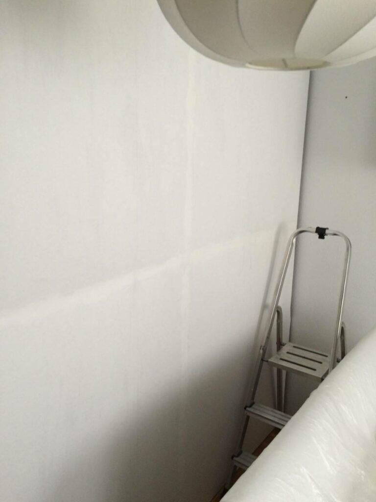Tapete auf Schrankrückwand, Raumteiler Ankleide Schlafzimmer